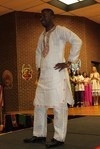 """<p>Jeremiah Nuatomue, graduate student in Workforce Education Leadership, wearing a traditional outfit called """"White-Bizam"""" from Liberia.</p>"""