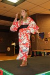 <p>Angelica Duncan, an ASU freshman majoring in bio-physical therapy, wearing a beautiful Japanese kimono.</p>