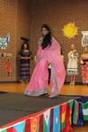 <p>Rohitha Srinivasula, ASU computer science graduate, modeling a beautiful Indian sari.</p>