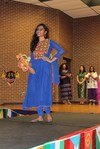 <p>Wejiha Shah, IREX student from Pakistan, modeling native attire from her country.</p>