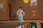<p>Jin Cheng, Chinese Fulbright FLTA, showed off her grace and agility during her Chinese dance.</p>