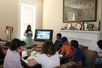 <p>Rameesha Khan continues her presentation on Pakistan.</p>
