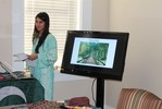 <p>Rameesha Khan, an IREX student from Pakistan, began her presentation on Pakistan. It was a continuation of Mariam Khurshid's presentation the previous week.</p>