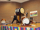 """<p>Members of Taikoza played a larger, different kind of Taiko drum called """"Okedo.""""<br></p><h2><br></h2>"""