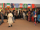 <p>After the main performances in the Ballroom, Festival attendees and performers moved into the adjoining Multipurpose Room for international music videos, interactive sessions, displays and exhibits, and a selection of international foods.</p>