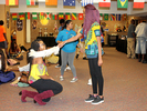 <p>Alcorn students having a little fun in the Multipurpose Room.</p>