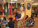 <p>Alcorn students from southern Africa show off their beautiful painted faces.</p>