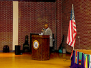 <p>Dr. Dovi Alipoe welcomes everyone to the 2018 Multicultural Festival.</p>