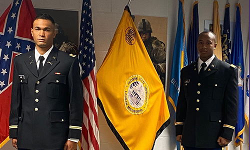 Graduating ROTC cadets promoted to second lieutenants during annual commissioning ceremony