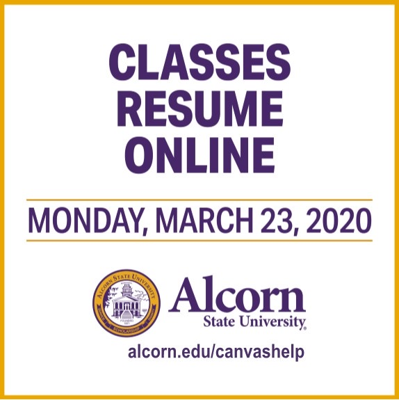 Classes resume online Monday, March 23rd
