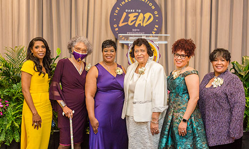 Six accomplished alumnae recognized during the Inaugural Women of Courage Award Ceremony