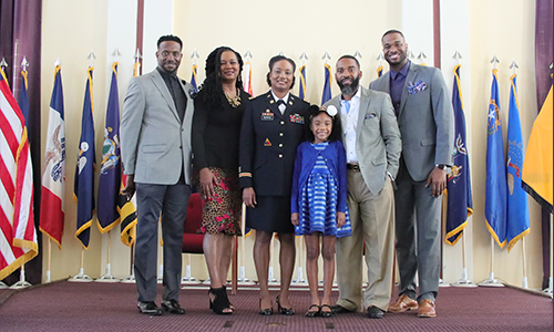 ROTC's Maj. Christian S. Newton promoted to lieutenant colonel during ceremony in Oakland Chapel