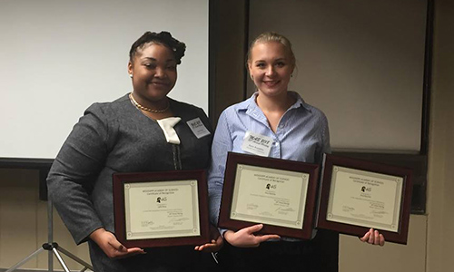 Anna Kazarina, Lydia Batey earn first, second place at the Mississippi Academy of Sciences Meeting