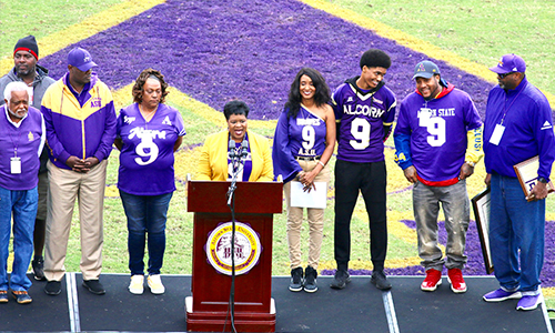 "Steve ""Air II"" McNair's jersey officially retired, Alcorn President Nave proclaims Oct. 26 Steve ""Air II"" McNair Day"