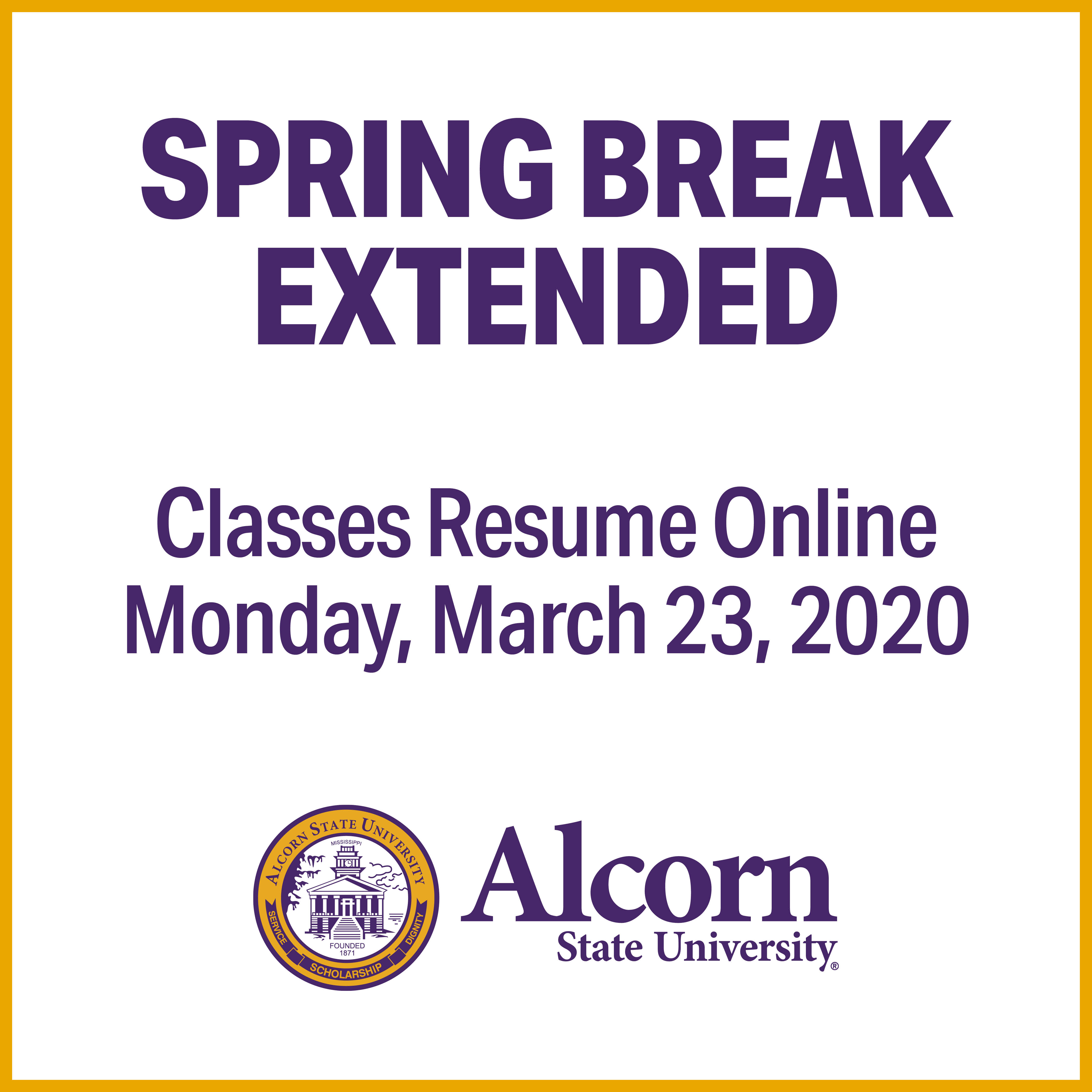 Interim Provost and Executive Vice President for Academic Affairs Statement Regarding Spring Break Extension and Transition to Virtual Instruction