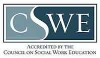 Graphic recognizing accreditation by the Council on Social Work Education