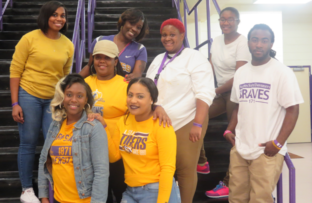Members of the Alcorn State University Social Work Club and Honor Society
